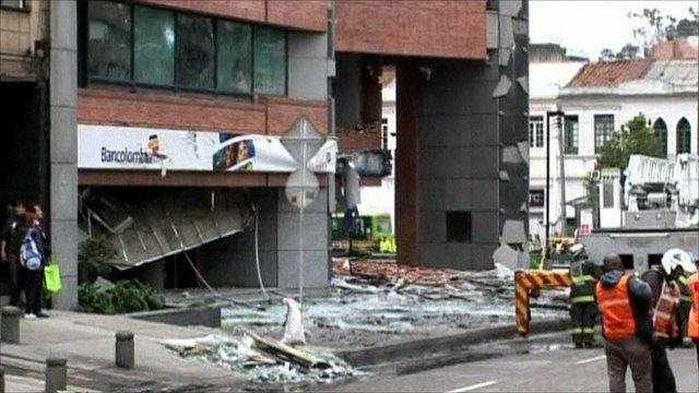aftermath of car bomb in Bogata