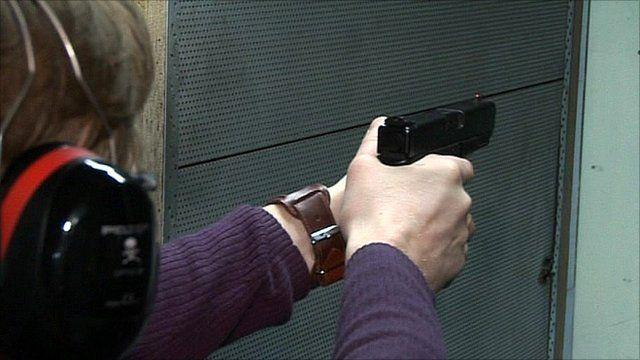 Gun being shot in Finland