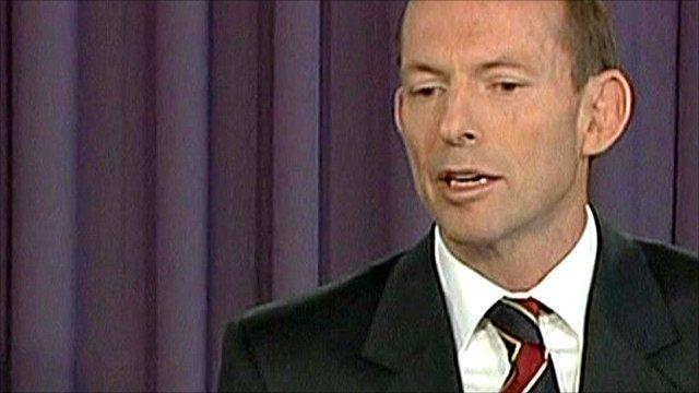 Tony Abbott, Australia's opposition leader