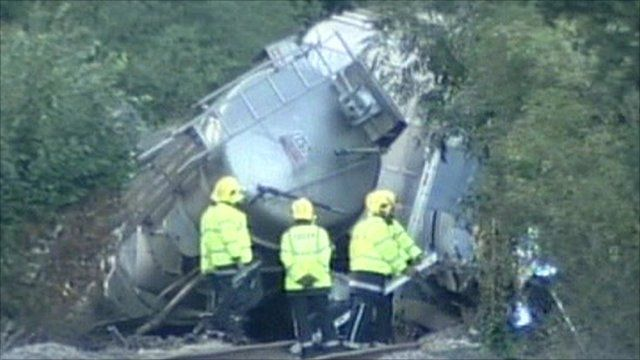 train crash at Sudbury