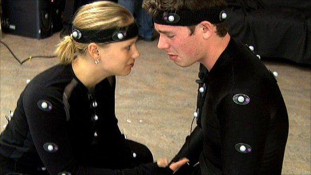 Actors use motion capture technology