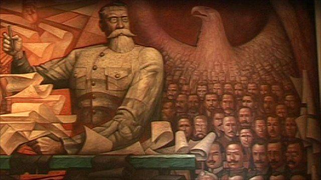 A Mexican mural