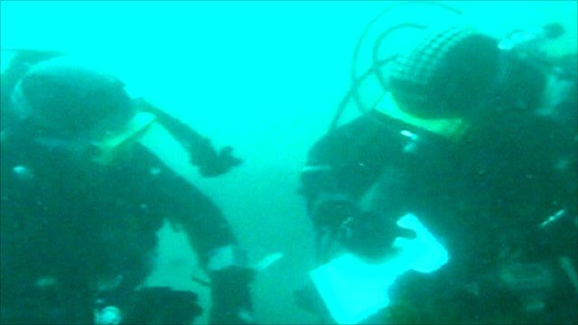 Diving to examine HMS Colossus off the Isles of Scilly