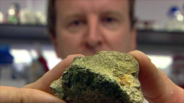 The rock that was sent into space