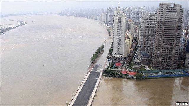 Flooding near Dandong