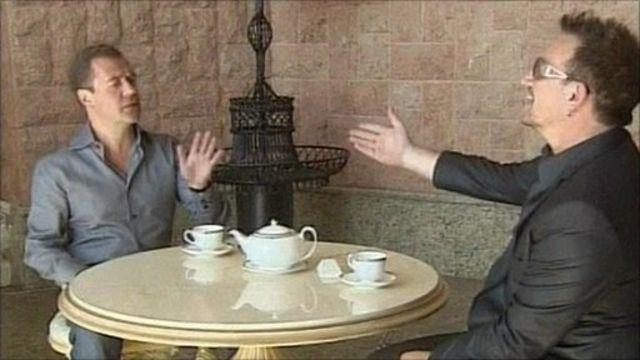 Medvedev and Bono