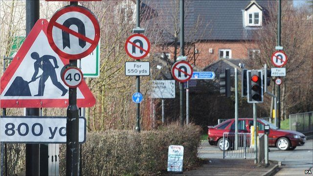 Roadsigns in Gloucestershire