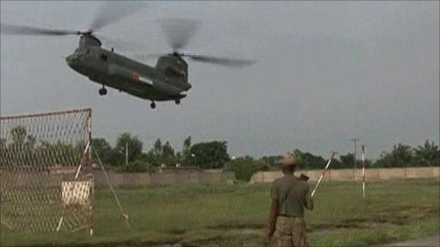 Helicopter landing