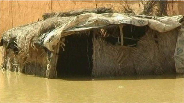 Flooded hut