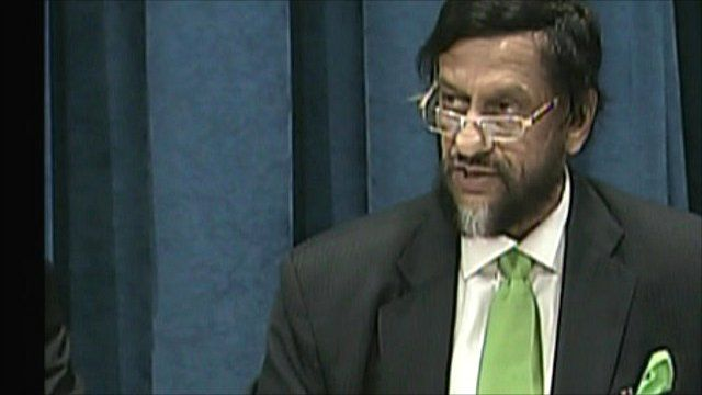 IPCC chairman Dr Rajendra Pachauri