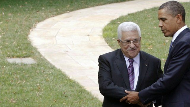 Mahmoud Abbas and Barack Obama