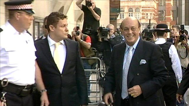 Polly Peck tycoon Asil Nadir arriving at the Old Bailey