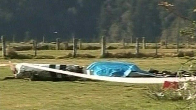 Crash site at the country's Southern Alps on South Island