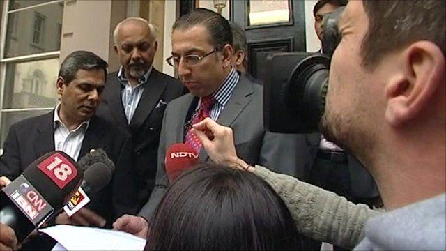 Yasir Hameed's spokesman, Tafazzul Rizvi, read out a statement