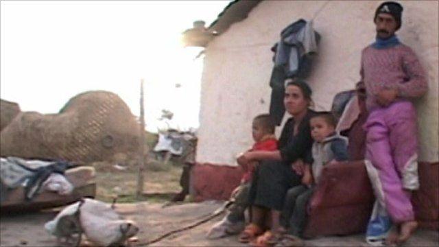 A family in Romania