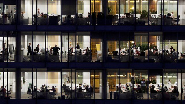 Workers in offices