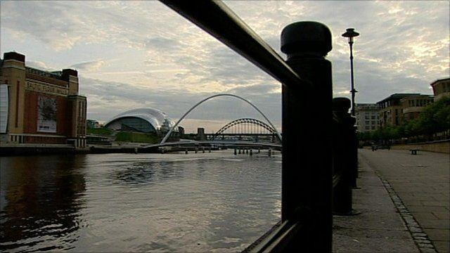 Gateshead city view