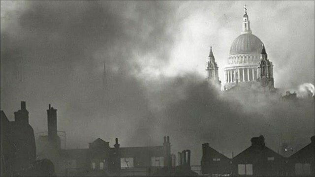 St Paul's cathedral during the Blitz
