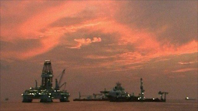 The Deepwater Horizon rig