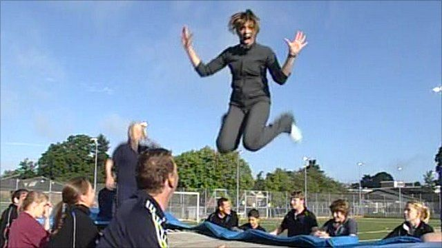 The pitfalls of trampolining on TV