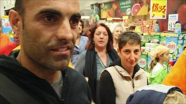 Greek shopping protest