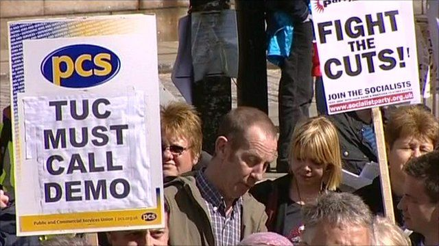 Campaigners urging the TUC to call demonstrations against the cuts