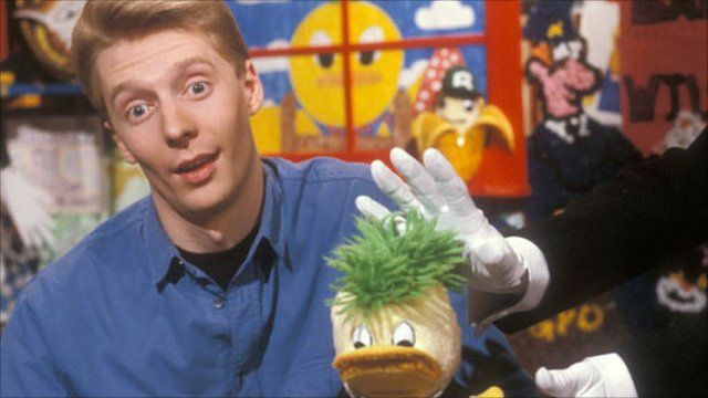 Andy Crane and Edd the Duck