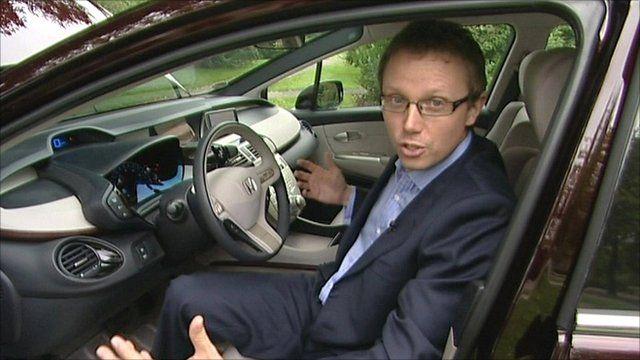 Richard Scott in the Honda Clarity