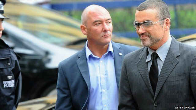 George Michael arrives at court