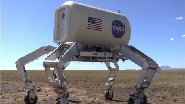 Athlete, the six-legged Nasa vehicle, being tested in Arizona