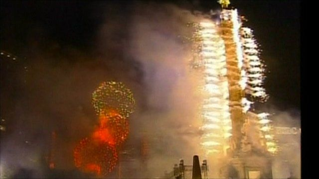 Fireworks to celebrate Mexico's 200th anniversary of the country's independence from Spain
