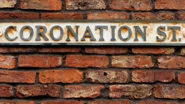 Coronation Street sign in Manchester