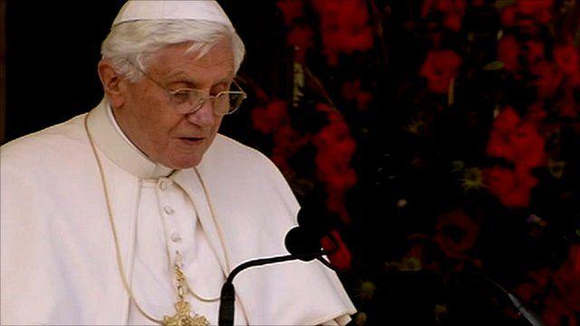Pope Benedict makes address