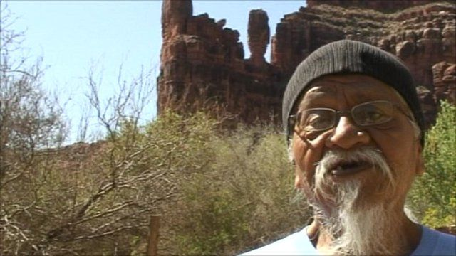 Rex Tilousi, history keeper of the Havasupai Native American tribe