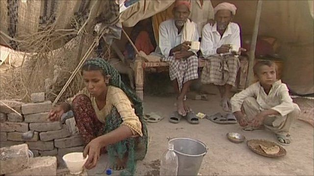 Refugees at Sukkur city