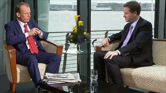 Andrew Marr and Nick Clegg