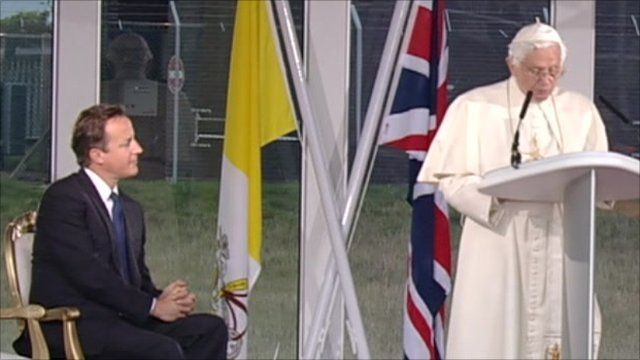 PM David Cameron and Pope Benedict