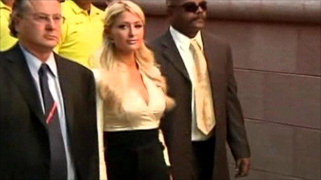 Paris Hilton leaves court in Las Vegas
