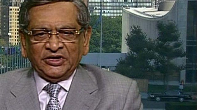 India's foreign minister SM Krishna