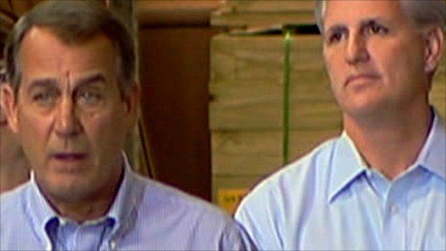 Ohio Congressman John Boehner (left) and California Representative Kevin McCarthy