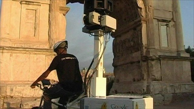 Google bike capturing images of ancient Rome