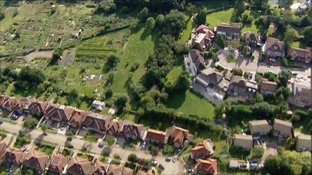 Aerials of houses