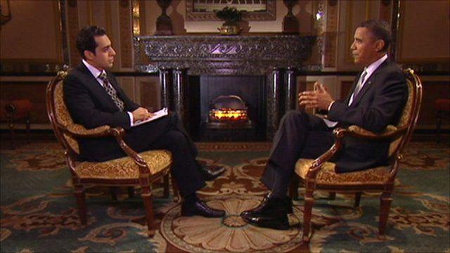 President Obama speaking to BBC Persian Television