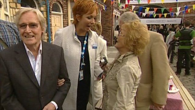 A party was held on the set of Coronation Street