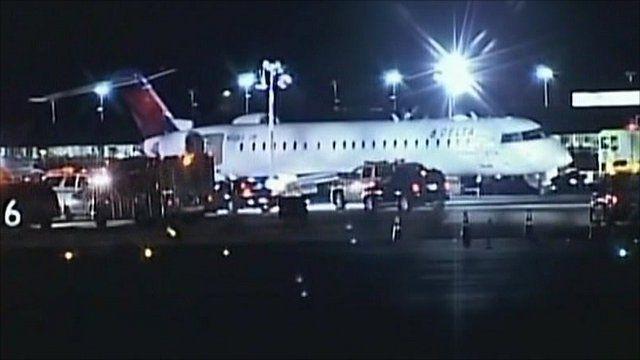 Plane in New York after making emergency landing