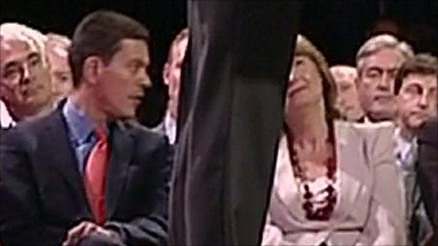 David Miliband and Harriet Harman