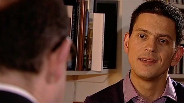 David Miliband and Nick Robinson