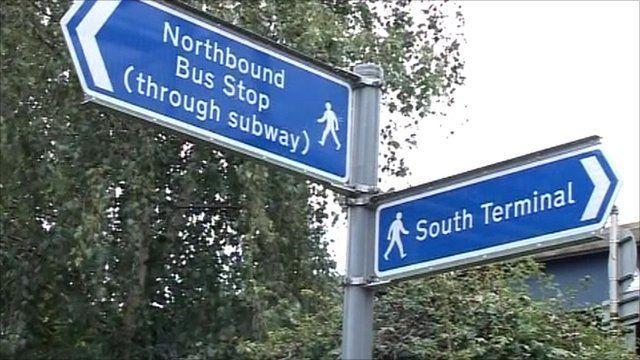 Gatwick signposts