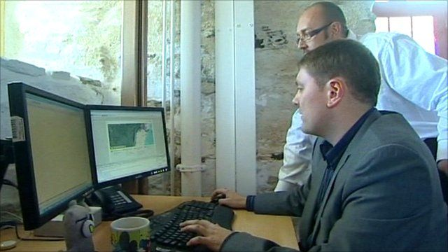 Internet software being used in a Cornwall computer systems development company