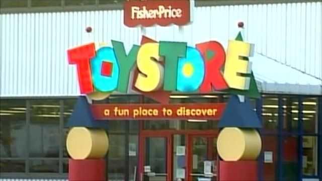 Exterior of a Fisher-Price toy store